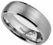 Titanium Ring - New Boxed Ladies / Mens Titanium Wedding Engagement Comfort Fit Jewellery Band Ring 8MM- Size N