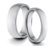 His & Her's 6MM/4MM Tungsten Carbide Polished Classic Styled Comfort Fit Wedding Band Ring Set