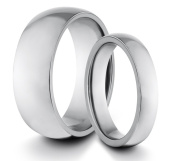 His & Her's 8MM/4MM Tungsten Carbide Polished Classic Styled Comfort Fit Wedding Band Ring Set