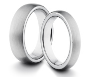 His & Her's 6MM/4MM Tungsten Carbide Classic Styled Brushed Comfort Fit Wedding Band Ring