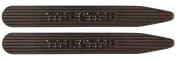 Tyler & Tyler Pinstripe Indented Collar Stiffeners - Black Metal Finish In Leather Wallet