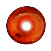 Three Cognac Circle Amber Beads, Pandora Style Charm, Perfect for jewellery making as well.