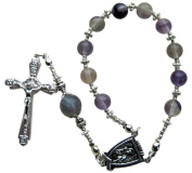 ~FLUORITE~ HAND CRAFTED PURPLE ONE DECADE ROSARY CHAPLET