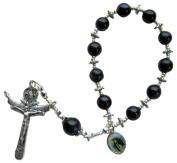 ~BLUE GOLDSTONE~ HAND CRAFTED ONE DECADE ROSARY CHAPLET