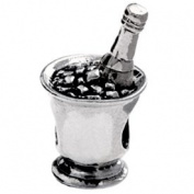 Authentic Silverado Champagne on Ice Charm Bead Compatible with Pandora Chamilia Troll Biagia etc