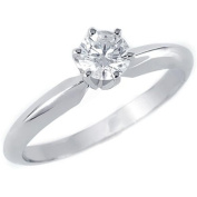 1/3 CT 6-Prong Solitaire Round Diamond Engagement Ring in 10K White Gold
