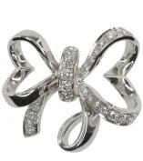 Diamond 0.20 carat Ribbon 14ct White Gold Pendant