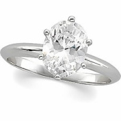 Oval Diamond Solitaire Engagement Ring 14ct White Gold