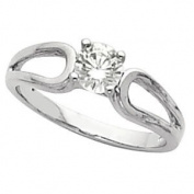 Round Diamond Solitaire Engagement Ring 14ct White Gold