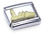 Nomination Composable Classic Relief Monument San Marco Stainless Steel and 18K Gold