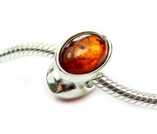Lovely 925 Sterling Silver & Baltic Amber Designer Charm CHA014