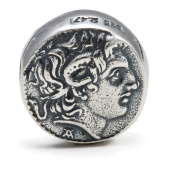 Melina World Jewellery - Alexander the Great Coin - 5007 - Handmade Sterling Silver 925 - Handmade in Greece by Greeks. Inspired by Greek, Olympic and Mediterranean motives and history. Our jewellery fits chains from Biagi, Chamilia, Pandora & Trollbea ..