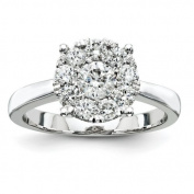 14ct White Gold Diamond Engagement Ring - JewelryWeb