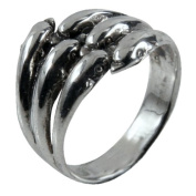 Old Glory Dolphins Wrap Ring Size - 9 Jewellery