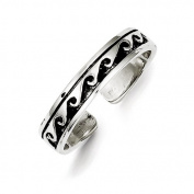 Sterling Silver Antiqued Adjustable Ring - JewelryWeb