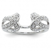 14ct White Gold Diamond Ring Wrap - JewelryWeb