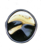 """TF large oval glass ring """"Rocky"""" in brown - Brass Size Q Women´s"""