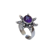 Hand Made Adjustable Amethyst Stone 925 Sterling Silver Ring