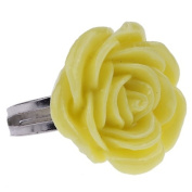 EOZY 1pcs Yellow Fashion Carved Flower Rose Ring Retro Kitsch Vintage Cute Emo Adjustable Fit For Hot Ladies/Girls New Arrive
