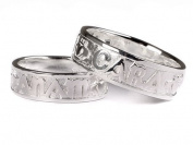 Celtic Irish Mo Anam Cara My Soul Mate Silver with Claddagh Design ring Set