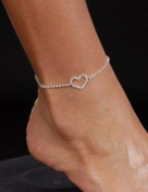 Sexy Women's Rhinestone Heart Anklet Fashion Jewellery Accessory