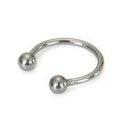 Horseshoe Stainless Steel lip chin ring ear Piercing
