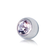Blue Banana Steel Jewelled 3mm (Diameter) Ball (Crystal) To Fit 1.2mm (Gauge) Bar Or Labret