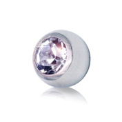 Blue Banana Steel Jewelled 5mm (Diameter) Ball (Crystal) To Fit 1.6mm (Gauge) Bar Or Labret