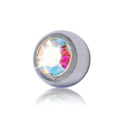 Blue Banana Steel Jewelled 5mm (Diameter) Ball (AB) To Fit 1.6mm (Gauge) Bar Or Labret