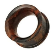 10mm Organic Sono Wood Concave Double Flat Flared Ear Plug Flesh Tunnel