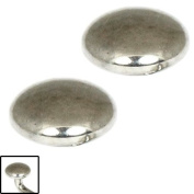 Titanium threaded Discs in High Polish Colour (PAIR). For 1.2mm gauge shafts. 3mm Diameter, 2mm thick.