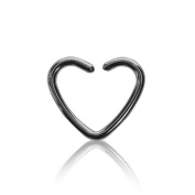 Blue Banana Steel Heart 1.2mm (Gauge/Thickness) Daith Ring