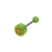 Smiley Face Logo Barbell Tongue Ring [Jewellery]