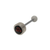99% Bitch Logo Barbell Tongue Ring [Jewellery]