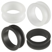2 Pairs of 28mm Acrylic screw flesh tunnel plugs Ear ring stretchers Expanders JAOJ Body Piercing Jewellery