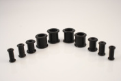 10 Piece Black Silicone Ear Plugs Tunnel Kit 4mm-10mm Kit Gauges Expander Set Squishy