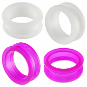 2 Pairs of 28mm Acrylic screw flesh tunnel plugs Ear ring stretchers Expanders JALP Body Piercing Jewellery