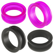 2 Pairs of 30mm Acrylic screw flesh tunnel plugs Ear ring stretchers Expanders JAPR Body Piercing Jewellery