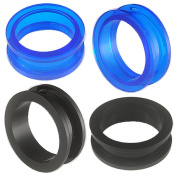 2 Pairs of 28mm Acrylic screw flesh tunnel plugs Ear ring stretchers Expanders JAQF Body Piercing Jewellery