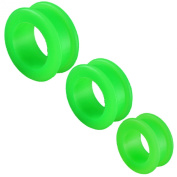 6pcs 26mm 28mm 30mm silicone Double Flare Tunnels Ear gauge plugs KAHY stretcher Piercing Body Jewellery