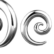 Urban Body Jewellery Stainless Steel Spiral Taper Ear Stretching 6 Piece Kit