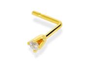 9ct Gold Diamond Set Nose Stud - 2pts