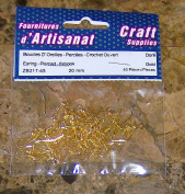 PIERCED EARRINGS FISH HOOK GOLDEN COLOUR 40 pieces 20 mm Arts & Crafts