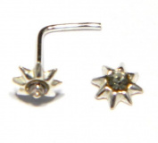 Star Nose Stud with Clear Austrian Crystal (appx 4mm) - Genuine 925 Sterling Silver. Add a little sparkle to your life!