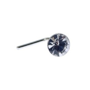 Quality UK Sterling Silver & Crystal 3mm Round Nose Stud