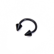 Horseshoe Circular Barbell with Spike Cone Ends Eyebrow Lip Nose Nipple Ring