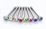 Jewellery Sleuth Set of 8 Nose Studs with 2mm CZ