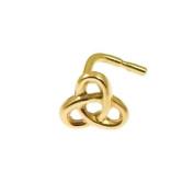 Quality UK Solid 9ct Gold Celtic Nose Stud