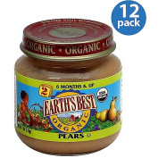 Earth's Best Stage 2 Pears Baby Food, 120ml