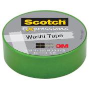 3M C314-GRN Washi Tape . 59 inch x 393 inch - 15mmx10m -Green